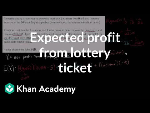 Expected profit from lottery ticket (video)   Khan Academy