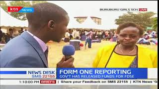 Form one students report to various schools across the country