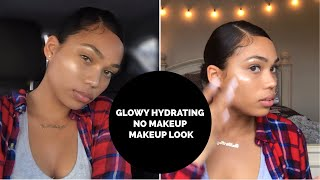 NO MAKEUP MAKEUP LOOK - GLOWY HYDRATING WINTER SKIN | Briana Monique' - Video Youtube