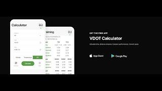 VDOT Calculator Tutorial