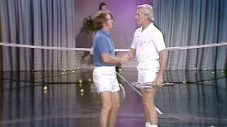 Johnny Carson Gets A Tennis Lesson From Bobby Riggs On The Tonight Show Starring Johnny Carson