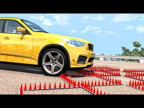 Massive Spike Strip Pileup Crashes #52 – BeamNG Drive | CrashBoomPunk