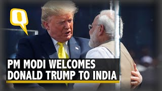 Namaste Trump Live: US President Donald Trump Arrives in Ahmedabad for his two-day visit.