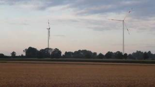 preview picture of video 'Wind turbines of Minfeld Wind Park, Video 1'