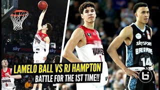 LaMelo Ball vs RJ Hampton FACE OFF For 1st TIME at NBL In front of 17 NBA SCOUTS!!! Melo NASTY DUNK!