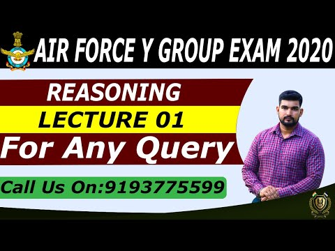 REASONING FOR Y GROUP AIR FOCE | BY ROBIN TOMAR SIR || LECTURE 01 |  CADETS DEFENCE ACADEMY