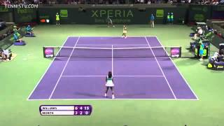"Serena Williams - 4 ""LET"" in a row."