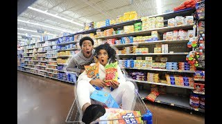 CRAZY GROCERY SHOPPING WITH DK4L | VLOGMAS DAY 6