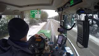 A Drive in the Snow to get the Tanker