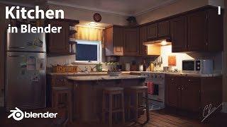 criando senário de uma cozinha no blender!