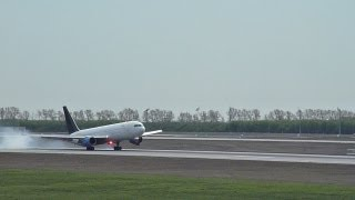 preview picture of video 'Boeing 767-300ER (N763BK) RYAN INTERNATIONAL AIR landing RWY 26R LEJ/EDDP Leipzig/Halle Airport'