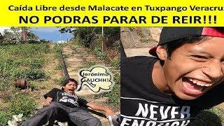 Caída Libre desde Malacate en Tuxpango Veracruz - NO PARARAS DE REIR!!!!