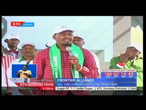 Elected leaders from Marsabit County led by Governor Ukur Yattani form Frontier party of Kenya