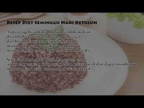 Diet Sehat 7 Hari, Berat Badan Turun 15 Kg