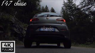 FPV drone - 147 chase | FPV drone cinematic car footage - Pian della Mussa - Alfa Romeo car chase