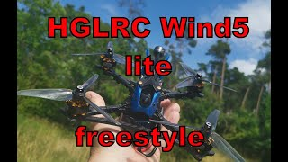 FPV Freestyle fun with HGRLC Wind5 lite DJI Caddx Vista DVR - team #bckflp