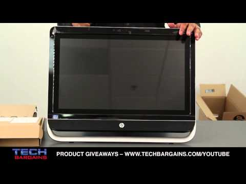 HP Pavilion TouchSmart 23 All In One Unboxing (HD)