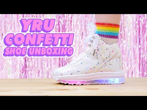 ♡ LIGHT UP CONFETTI SHOES UNBOXING ♡