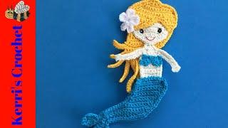 Crochet Mermaid Tutorial - Crochet Applique Tutorial