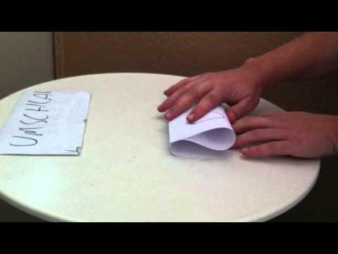 Tipp: DinA4 Blatt Papier falten zur Welle - DinA4 Blatt Papier falten zur Welle Tutorial
