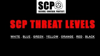 SCP THREAT LEVELS AND MEANINGS