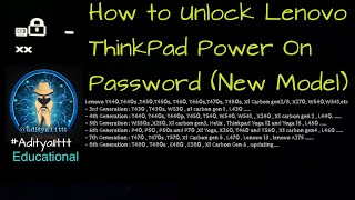 How to remove Supervisor password from IBM ThinkPad - Free video