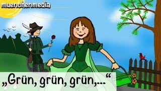 🎵 Grün, Grün, Grün Sind Alle Meine Kleider - Kinderlieder Zum Mitsingen | Kinderlieder Deutsch