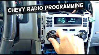 How to Program Chevrolet Radio CD Player with Maxisys  Demonstrated on Chevrolet Equinox