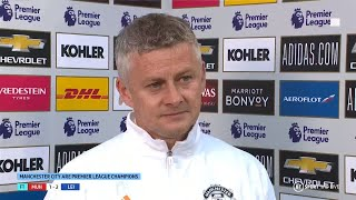 """""""We're disappointed because I thought we played well."""" Ole Gunnar Solskjær on Leicester loss"""