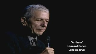 Leonard Cohen - Anthem (w/lyrics) London 2008