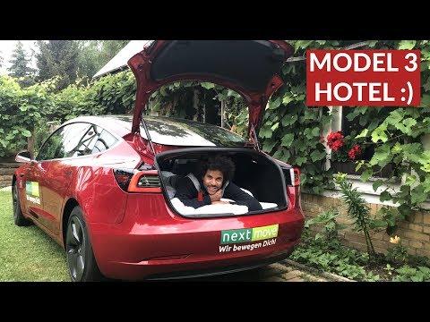 Kann Man Im Tesla Model 3 Gut Schlafen? Spezial Matratze Im Test!