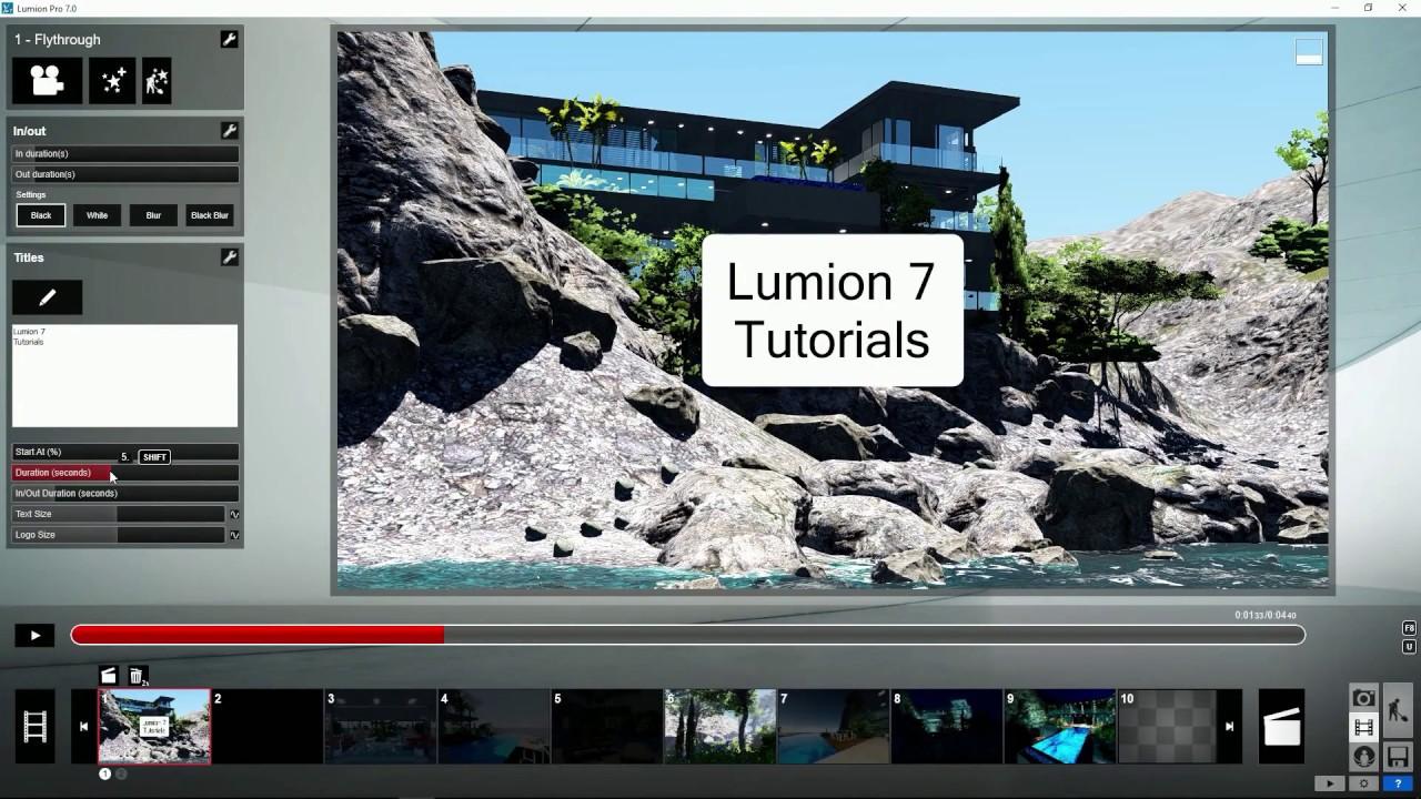 エフェクト:タイトル(Lumion7 series)