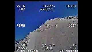 High altitude FPV mountain flight
