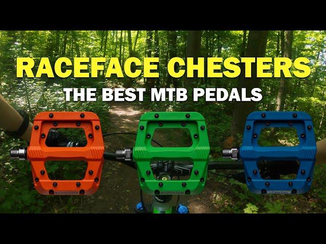 Видео Педали RaceFace Chester, turquoise