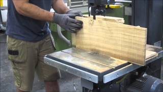 Resawing honey locust and ziricote for acoustic guitars on my Felder 510 bandsaw