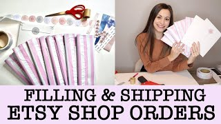 Fill, Package & Ship Etsy Orders with me | Printing & Cutting Stickers on Silhouette | Sticker Shop