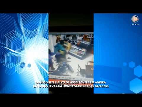 Lanchonete é alvo de Assaltantes em Andira-PR