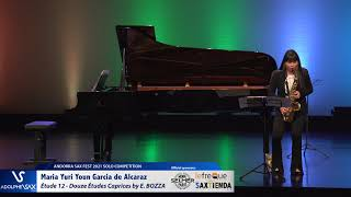 Maria Yuri Youn Garcia de Alcaraz plays Étude 12   Douze Études Caprices by Eugène BOZZA