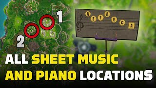 Fortnite: Find a Stand with Sheet Music in Pleasant Park (All Locations)