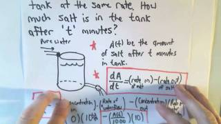 Mixing Problems and Separable Differential Equations