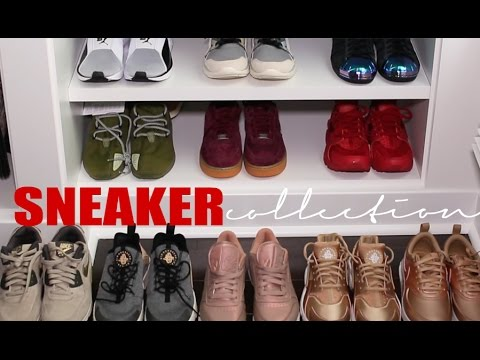 MY SNEAKER COLLECTION +TRY ON | Carli Bybel