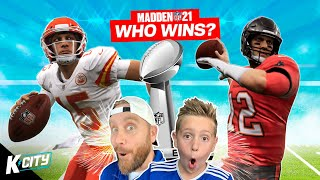 Super Bowl 2021 Winners Prediction Game in Madden NFL 21! K-CITY GAMING