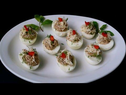 Фаршированные яйца  Шикарная закуска на праздничный стол