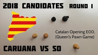 Caruana crushes Wesley So in the Catalan Opening ⎸2018 Candidates Rd.1