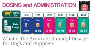 What is the accurate Rimadyl dosage for Dogs and Puppies?