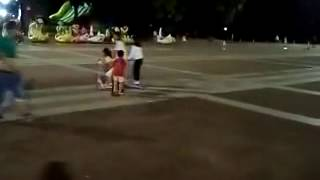 fascol surfing baby scooter crazy drive at night with flashing wheels on