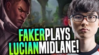 Faker Wants to Play Lucian Mid! - SKT T1 Faker SoloQ Playing Lucian Midlane | SKT T1 Replays