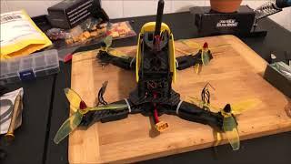 Robocat 270 FPV Racer Drone yellow drone build part 3