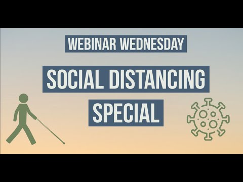 Screenshot of video: Social Distancing for people with low vision