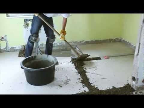 Böden renovieren mit Schnell Estrich